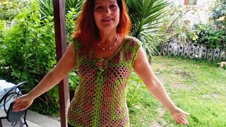 CROCHET TANK TOP Beginners Tutorial Any Size