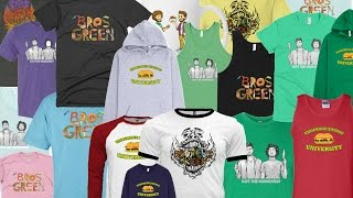 Brothers Green Shirts and Merch store. Unboxing Video