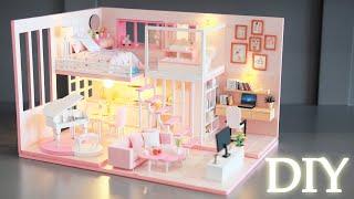 DIY Miniature Dollhouse Kit || Dream Girl Heart - Miniature Land