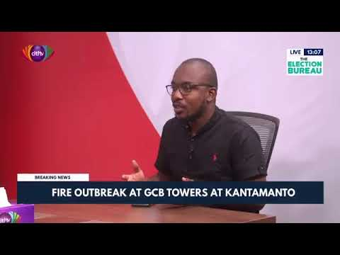 Fire outbreak at GCB Towers in Kantamanto