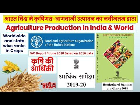 Agriculture Production Latest Data and Rankings || भारत एवं विश्व में कृषिगत उत्पादन के नवीनतम आंकड़े