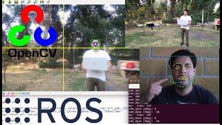 2 Detección de rostro usando el Parrot Bebop 2 en vuelo estacionario (OpenCV y ROS, experimento)