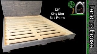 Build a simple King Size Bed Frame out of wood