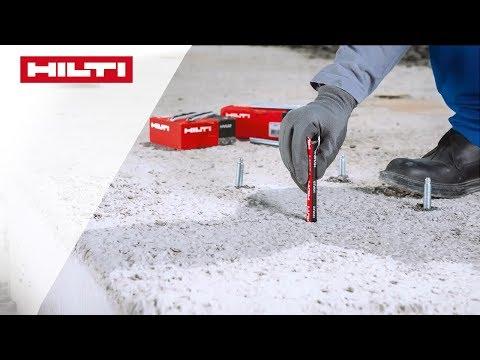 ANLEITUNG zum chemischen Hilti Verbundanker HVU2 - Wand-/Bodenmontage mit normalem Hammerbohrer