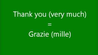 Learn A Language - Lets Learn Italian Part 1 - Get Free Italian Lessons Here