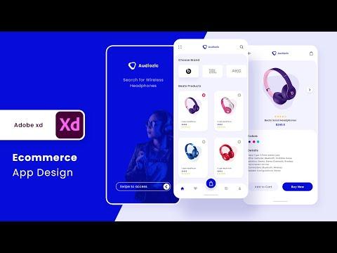 E-commerce App Design in Adobe XD (Wireframe/Mockup + Prototype)