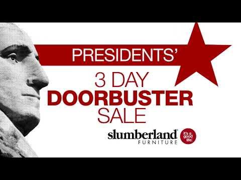 slumberland furniture s president s 3 day doorbuster sale 30 mae chen. Black Bedroom Furniture Sets. Home Design Ideas