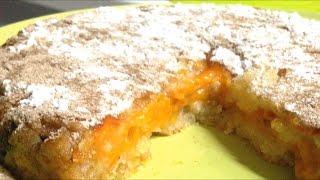 Быстрый пирог. Вкуснейший насыпной пирог с абрикосами.Выпечка в Princess.