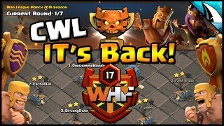*CWL is BACK!* Running with WHF TH 12 Champs 2 | Clash of Clans