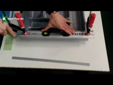 Besteckeinsatz auf Schubladengröße beschneiden