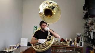 Vintage Conn 14K Lacquered Brass Sousaphone Play Test