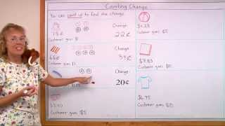 Counting up to make change - 2nd/3rd grade money lesson for kids