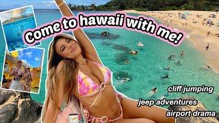 HAWAII VLOG! cliff jumping, hiking, hawaiian foods, sunflower field, taking pics and more!