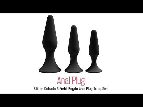 Silikon Dokuda 3 Farklı Boyda Anal Plug Tıkaç Seti