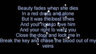 Evans Blue - In a Red Dress and Alone (Lyrics)