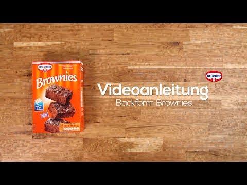 Videoanleitung Backform Brownies