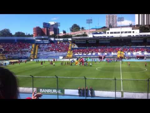 """""""CSD Municipal Hinchada U5C"""" Barra: La Banda del Rojo • Club: Municipal"""