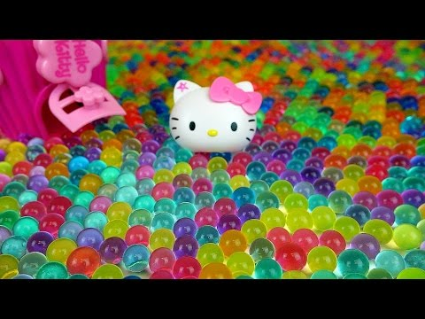 Orbeez Hello Kitty & Kinder Joy Surprise egg, dispenser toys with Baby Doll