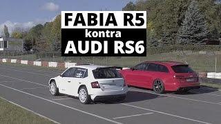 Skoda Fabia R5 vs Audi RS6 - wyścig - Zachar OFF