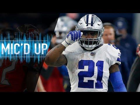 """Ezekiel Elliott Mic'd Up vs. Buccaneers """"Cowboy nation let's just get that playoff spot""""   NFL Films"""