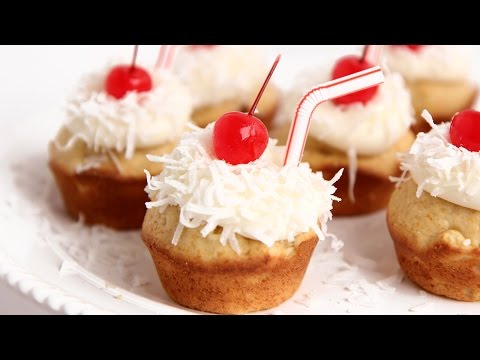 Pina Colada Cupcakes Recipe – Laura Vitale – Laura in the Kitchen Episode 793