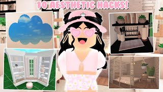 10 Bloxburg Building HACKS and Tricks! *Aesthetic* (Roblox)