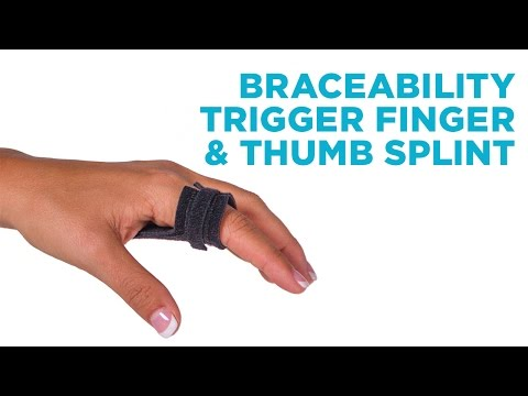 Video Trigger Finger & Thumb Splint | Home Treatment Solution to Fix Tenosynovitis Pain without Surgery