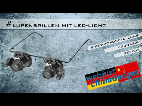 Lupenbrille mit LED-Licht - 20fach [ unboxing - review - german/deutsch ]