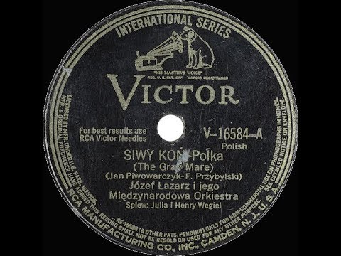 Polish 78rpm recordings, 1942. VICTOR 16584. Siwy Koń {The grey horse} –polka