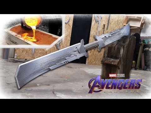 Making THANOS NEW Sword From Avengers: Endgame REVEALED? (Aluminum Casting)
