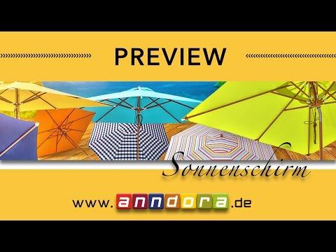 shop.anndora-sonnenschirm.de Sonnenschirme von200 cm 300 cm 400 cm 3x3 3x4 4x4