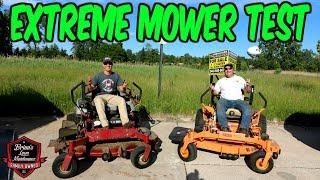 EXTREME Mower Testing!! SCAG Vs EXMARK ► Scag Turf Tiger 2 Vs Exmark Lazer Z X-Series ► Who Will Win