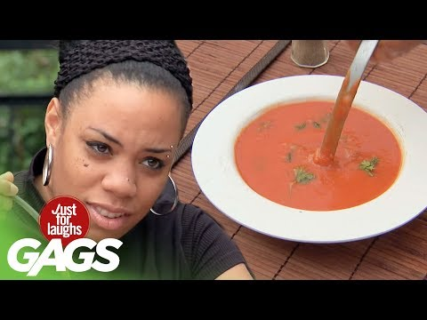 Hilarious PRANK: The Mystery of the Bottomless Soup Bowl