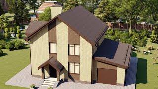 Проект дома 204-A, Площадь дома: 204 м2, Размер дома:  13,92x13,12 м