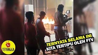 Di Balik Layar Proses Syuting Adegan Kebakaran Dalam FTV Sinetron.