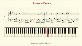 """How To Play Piano: Richard Clayderman """"I Have a Dream"""" Piano Tutorial by Ramin Yousefi"""