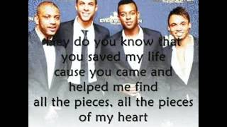 JLS- all the pieces of my heart lyrics