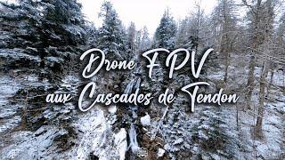 Vol en immersion en DRONE FPV aux Cascades de Tendon dans LES VOSGES en hiver