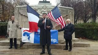 Discours vidéo de Serge Federbusch pour la bienvenue au Président des Etats-unis d'Amérique et d