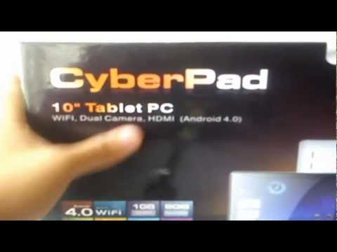 Unboxing Tablet 10' Cyberpad (Iview-1030TPC)