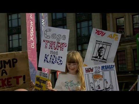 العرب اليوم - المظاهرات المناوئة لترامب تطارده في اسكتلندا