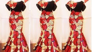 How to cut and sew a six pieces skirt (with tail, zipper and elastic band) | Easiest method