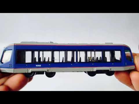 Инерционный трамвай Play Smart 1:50 «Трамвай современный City Star» 17,5 см. 6583W в коробке / Микс