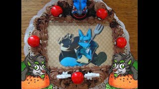 Canned Burger and Lucario cake