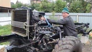 Первый запуск двигателя ГАЗ-66