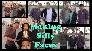 Silly Faces With Random People - Venice Beach