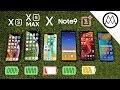 iPhone XS / XS Max vs Galaxy Note 9 vs iPhone X Battery Life DRAIN TEST