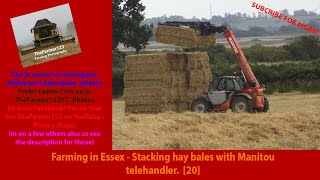 Farming In Essex - Stacking Hay Bales With Manitou Telehandler. [20]