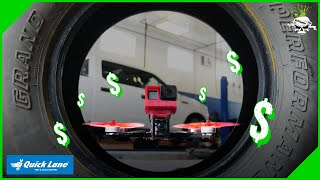 Using An FPV Racing Drone to Showcase A Tire and Lube Shop | Inside And Out