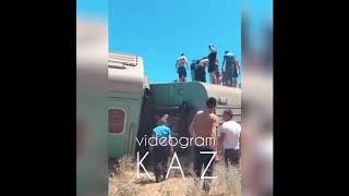 авария поезда Алматы - Бишкек